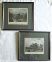 zz Pair of Victorian engravings of Warwick Castle and Kenilworth Castle (1871 or later) (SOLD)